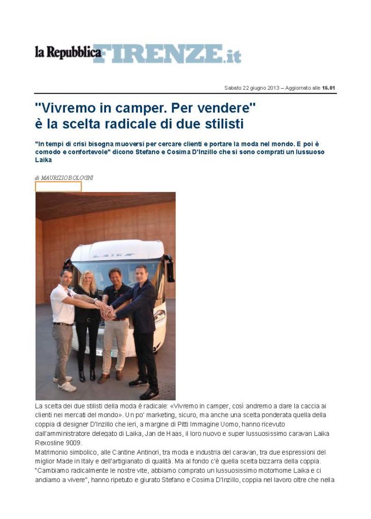 La Repubblica.it Andremo a vivere in camper