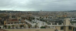 A view of magnificent Rome from Scuderie del Quirinale museum.