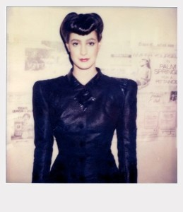 Sean Young in a polaroid taken while shooting Blade Runner.