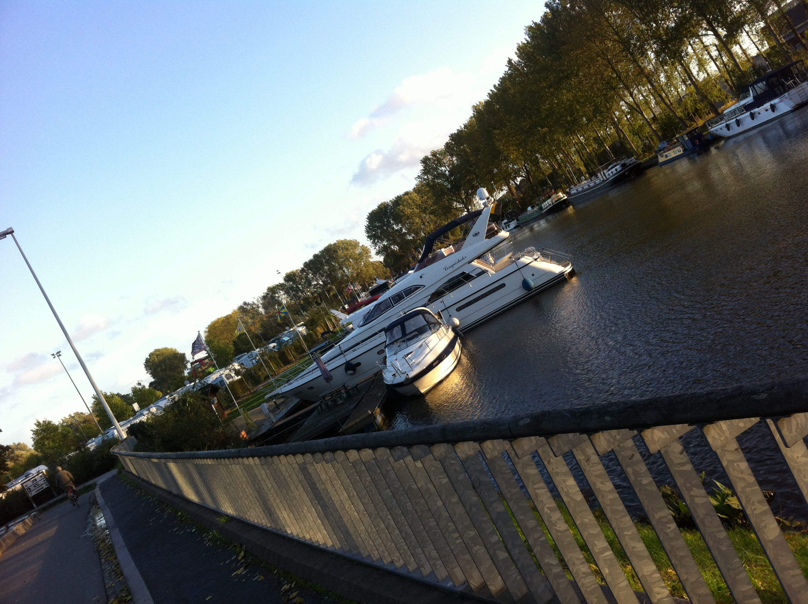Parked at the yacht club in Brugge.